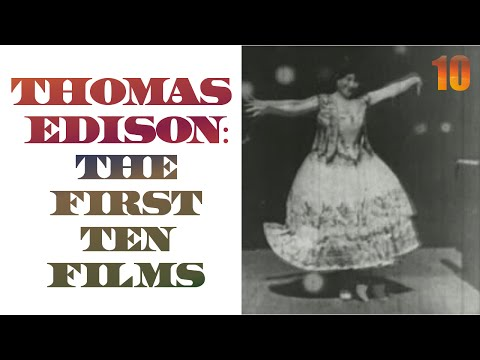 10 Thomas Edison films in 3 minutes - the first films made in America