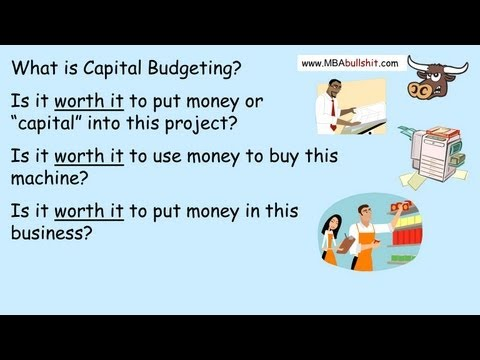 Capital Budgeting Lecture in 10 min., Capital Budgeting Techniques Decisions NPV Net Present Value