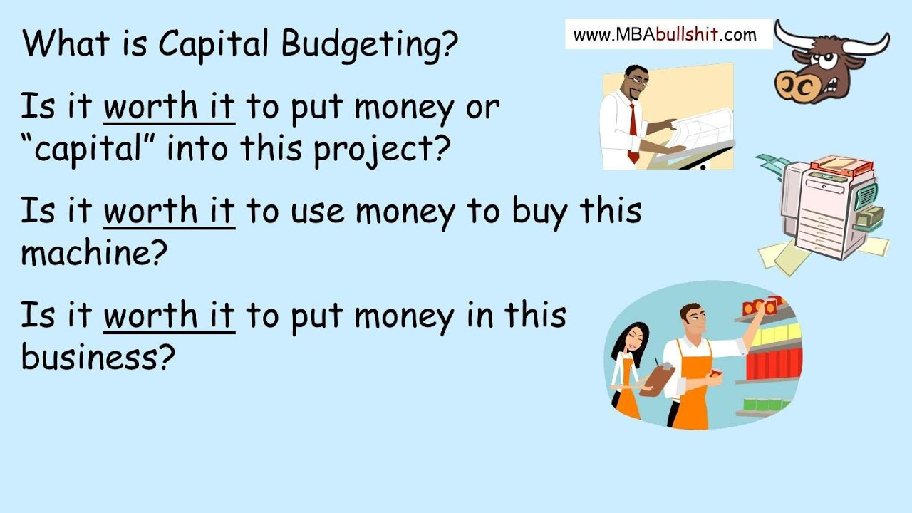 Examples of capital budgeting techniques.