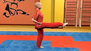 Боевая гимнастика. Ушу. Удары ногой. Часть 1