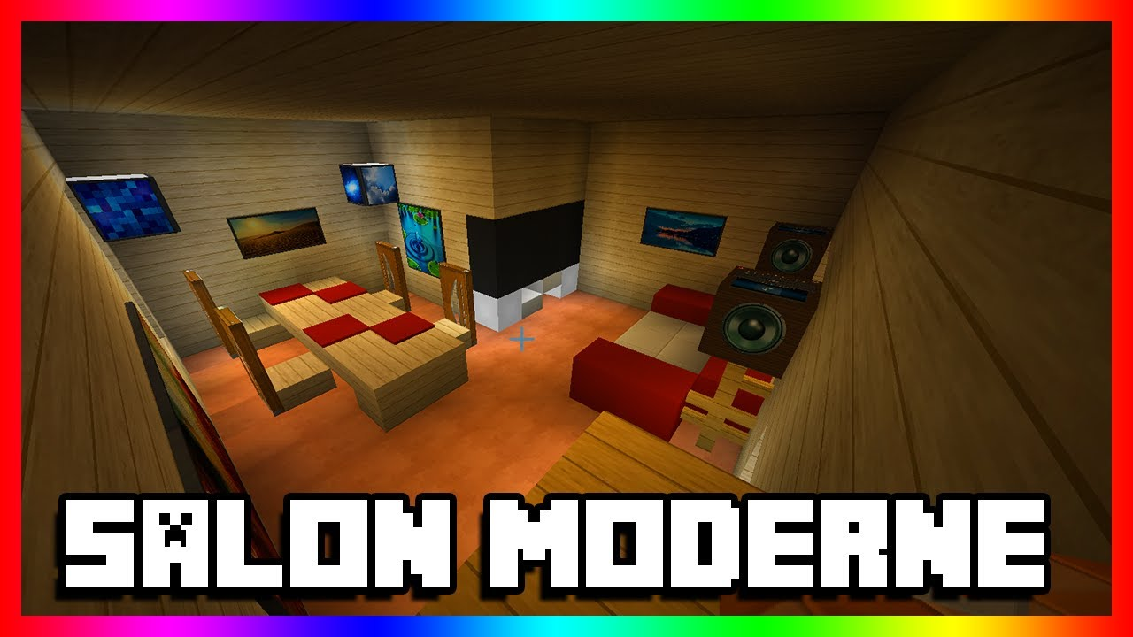 tuto minecraft faire un salon moderne youtube. Black Bedroom Furniture Sets. Home Design Ideas