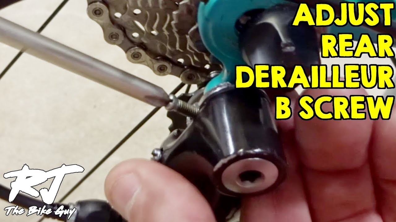 63993840dad How To Adjust The B Screw On A Rear Bike Derailleur - YouTube
