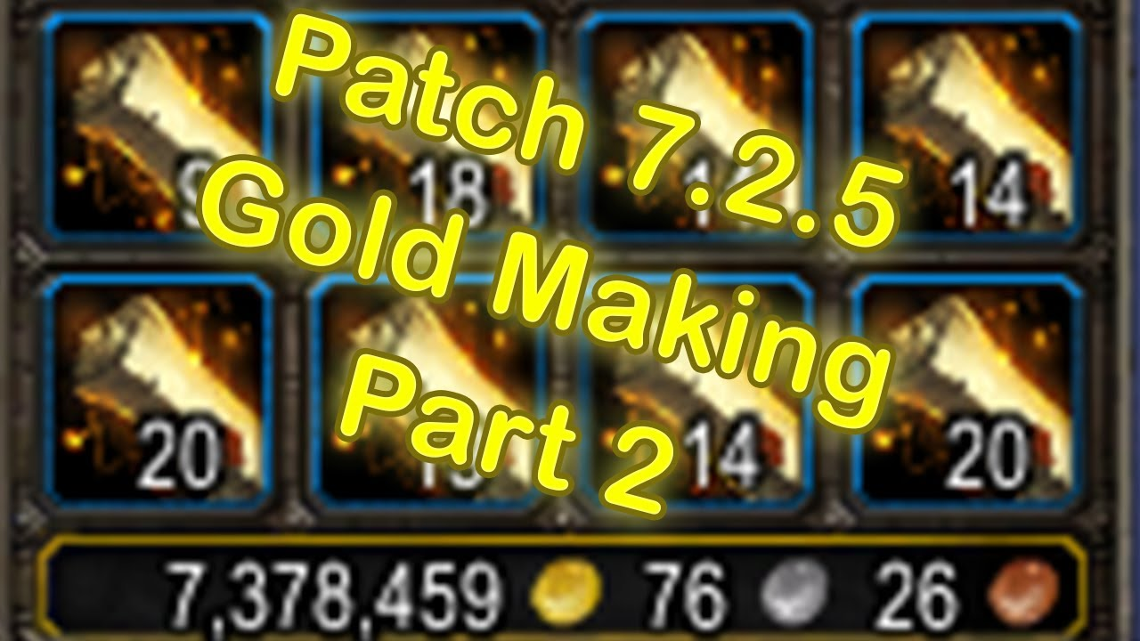 how to make gold in wow legion