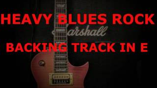 Hard Blues Rock Backing Track - 70s style Heavy Blues in E