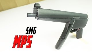 How To Make A Fully Automatic Paper MP5 (SMG) That Shoots