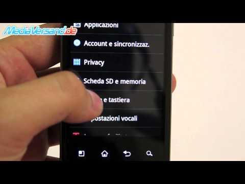 LG P990 OPTIMUS SPEED Sprache ändern
