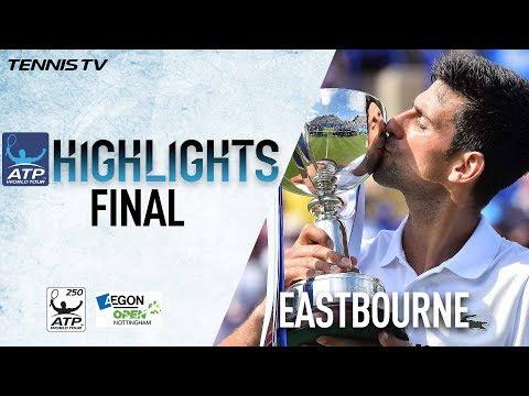 Highlights: Djokovic Beats Monfils For Eastbourne 2017 Title