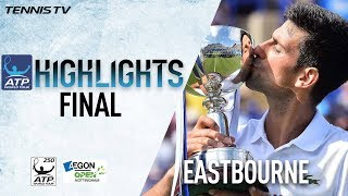 Highlights: Djokovic Beats Monfils For Eastbourne 2017 Title