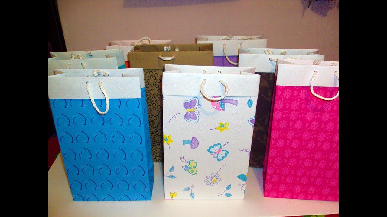 Como hacer bolsas de regalo tutorial 1 youtube - Como hacer bolsas de regalo ...