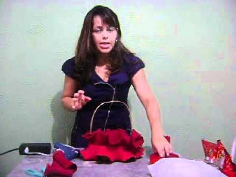 Como fazer cestas decorativas com iana leite parte 2 youtube - Cestas decorativas ...