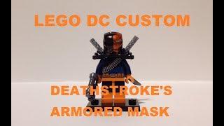 LEGO DC CUSTOM DEATHSTROKE'S ARMORED MASK