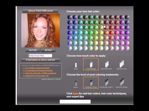 Cambiar color de cabello a fotos online