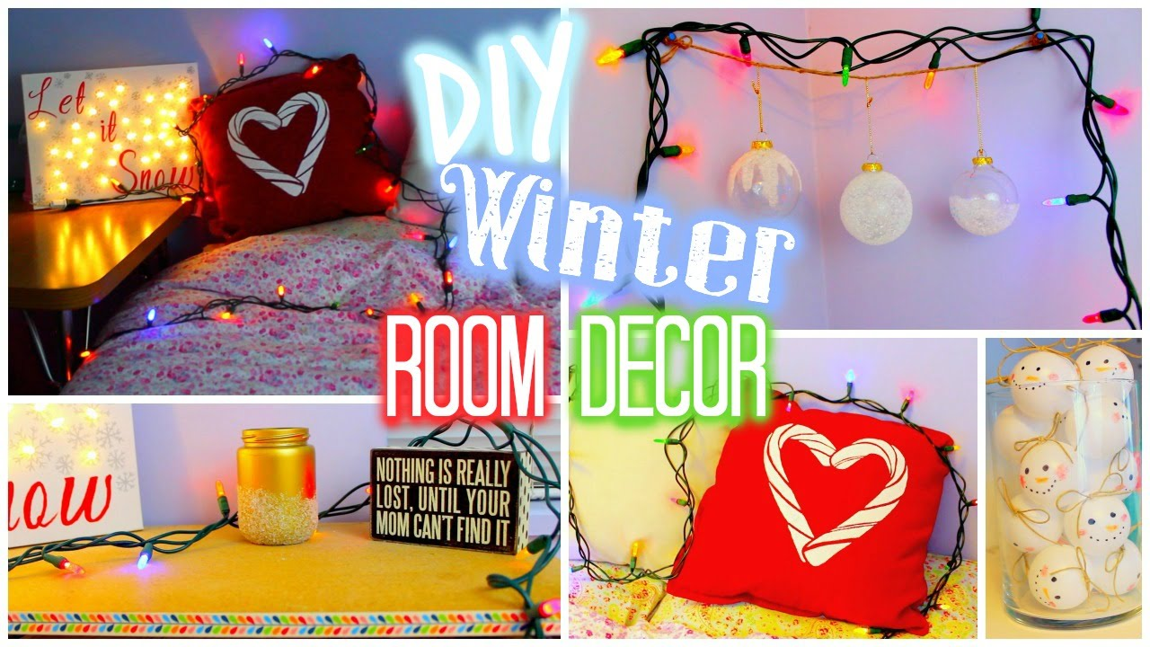Diy winter holiday room decor collab with hayley for Jenerationdiy room decor