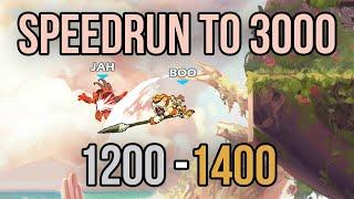 Brawlhalla Speedrun to 3000 ELO | 1200 - 1400