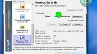 Como configurar Avast! Profesional 4.8 Video Original