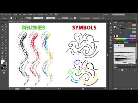 How To Change The Color Of Preset Brushes And Symbols In Adobe Illustrator
