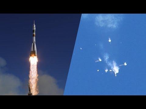 Детальное видео аварии Союза МС-10 | Море Ясности