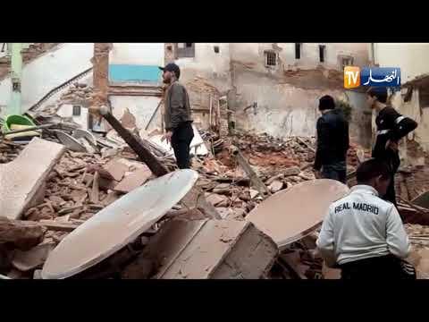 """وكأنه زلزال  شاهد مخلفات إنهيار بناية من 4 طوابق بـ""""القصبة """""""