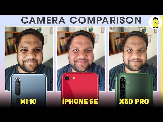 Mi 10 vs iPhone SE vs Realme X50 Pro camera comparison - single vs quad