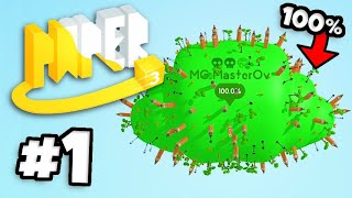 Paper.io 3 - Gameplay Part 1 - 100% MAP COVERAGE! NEW 3d Paper Multiplayer Game!