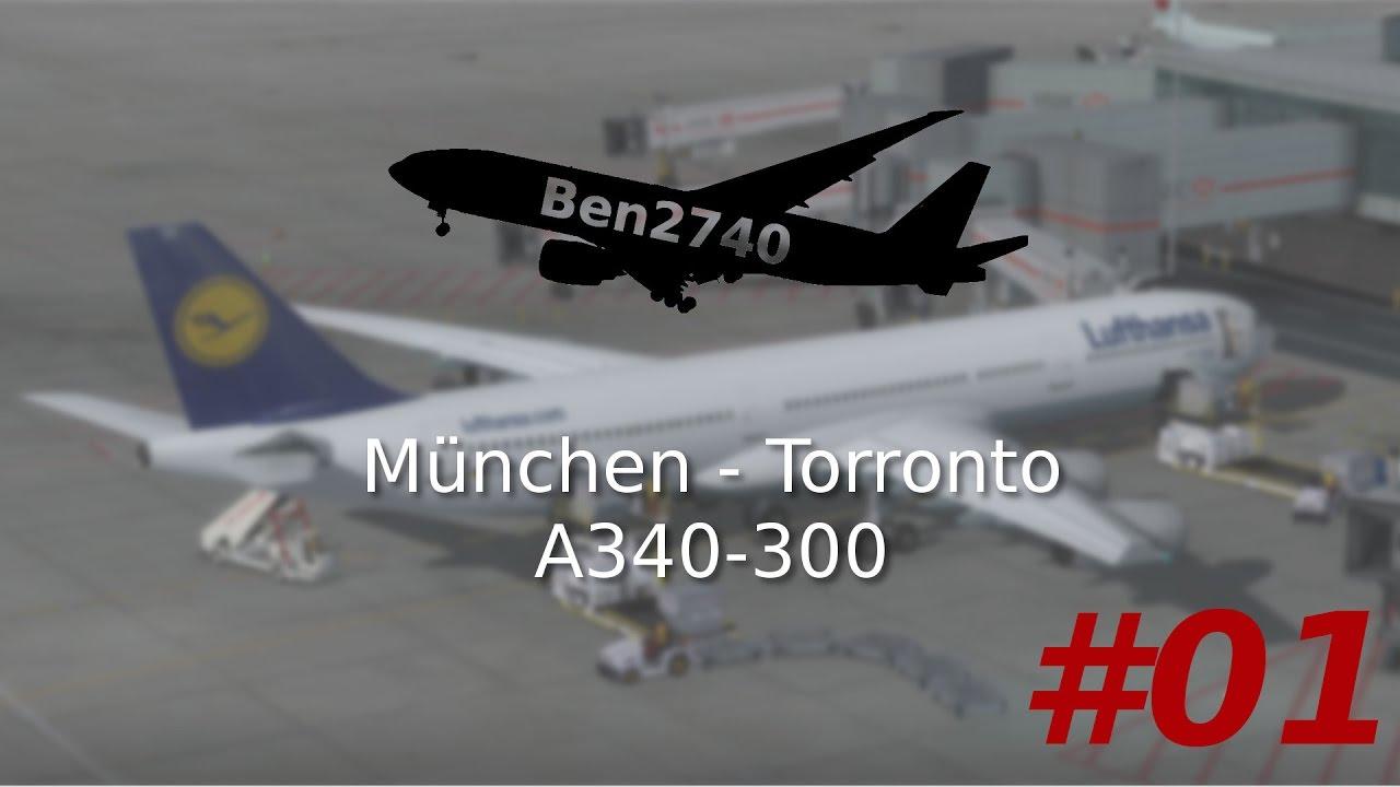 [Prepar3d] Blackbox A340-300 München - Toronto #01 german by Ben2740