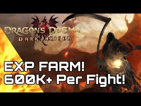 Dragon's Dogma! EXP Farm! 600k+ Per Fight!