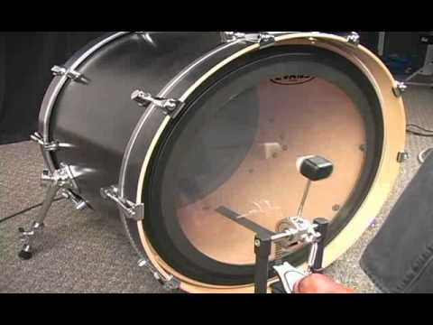 A Demonstration of the Evans EMAD Bass Batter Head