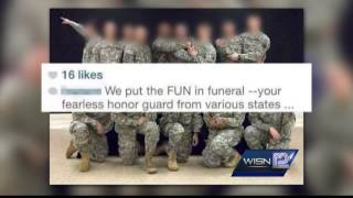 National Guard investigating photos posted by Funeral Honor Guard member