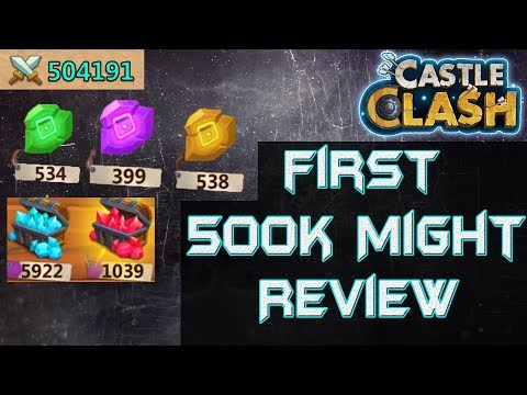 First Ever 500K Might Account Review - #1 Might | Castle Clash