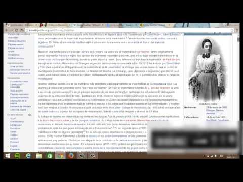 Emmy Noether, Busquedad En Google.