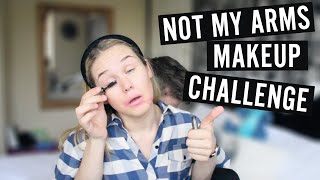 not my arms makeup challenge with becca lammin jake clemmence