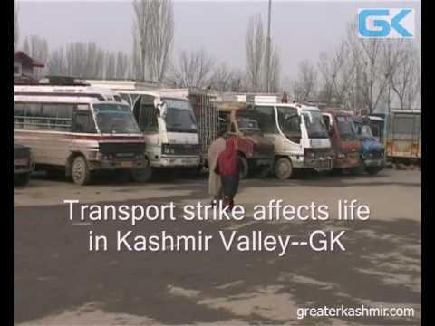 Transport strike affects life in Kashmir Valley