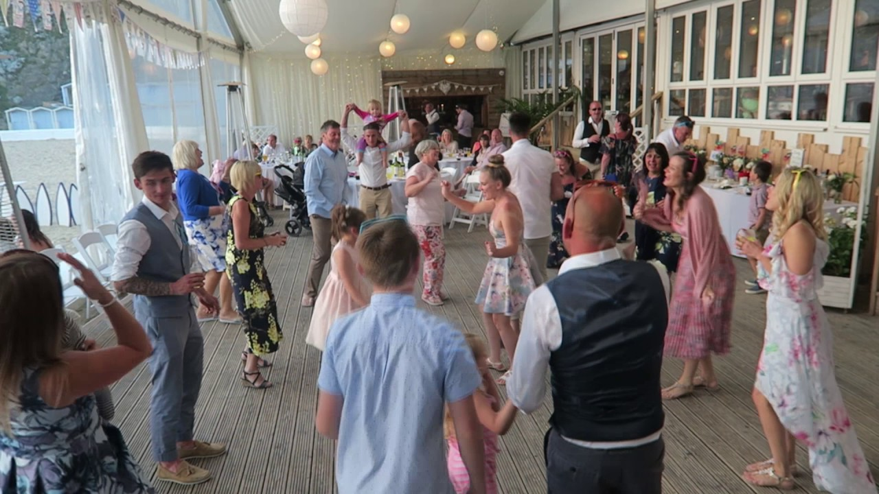 Mr and Mrs Robertson - Lusty Glaze Beach - Cornwall Wedding DJ