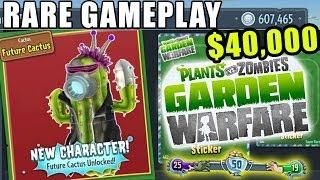 Rare Future Cactus Unlocked! Plants vs. Zombies Garden Warfare Team Vanquish Gameplay