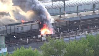حريق في مترو أنفاق موسكو