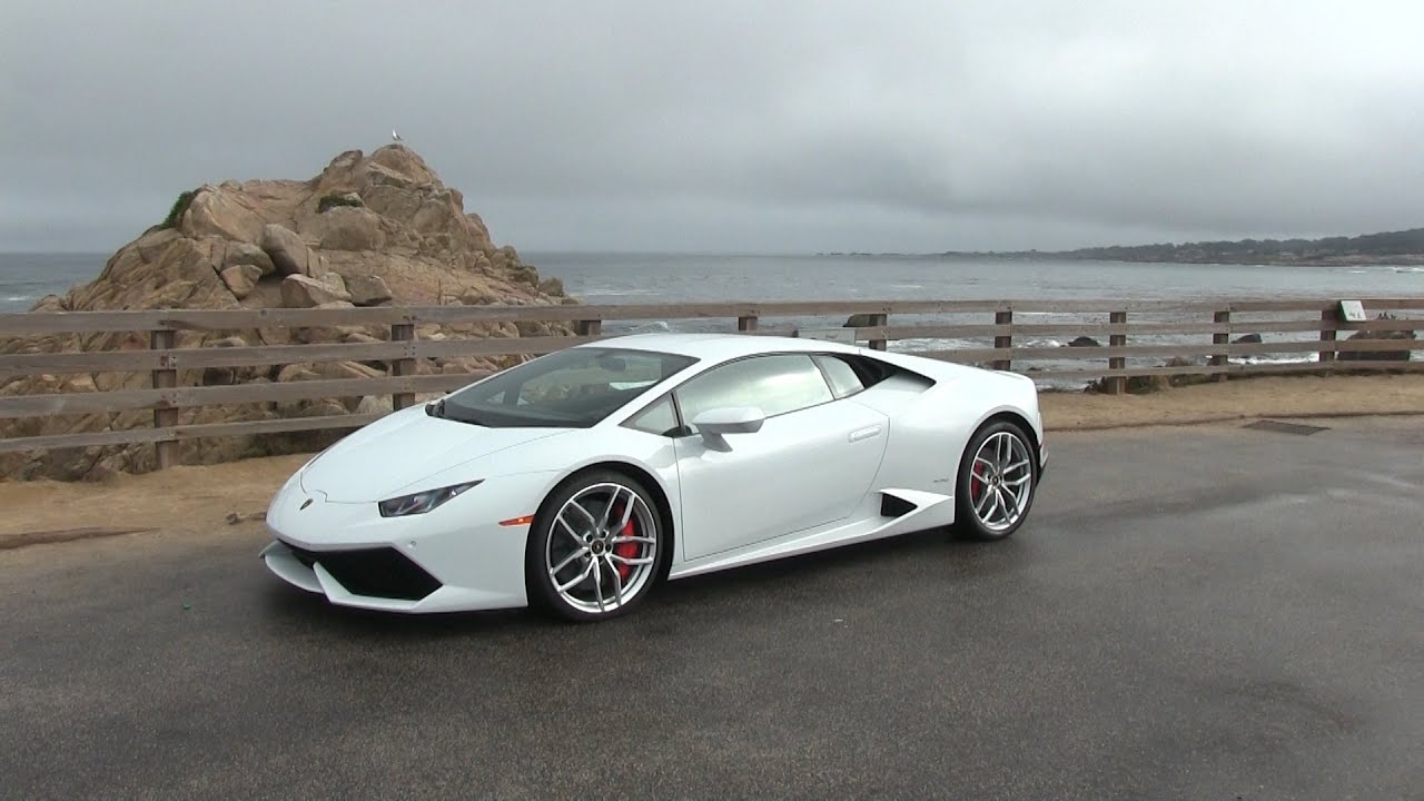 the new lamborghini huracan start up and driving on the california coast. Black Bedroom Furniture Sets. Home Design Ideas