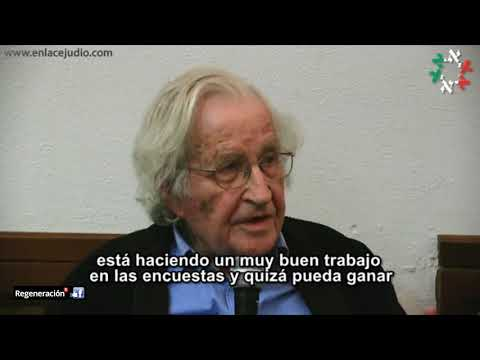 Noam Chomsky: López Obrador está haciendo un muy buen trabajo en las encuestas y quizá pueda ganar