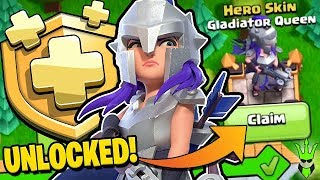 UNLOCKING GLADIATOR QUEEN BY GEMMING THE MAY GOLD PASS - Clash of Clans