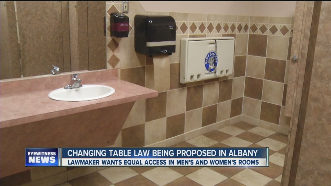 New state law could require changing tables in men 39 s for Changing table for bathroom