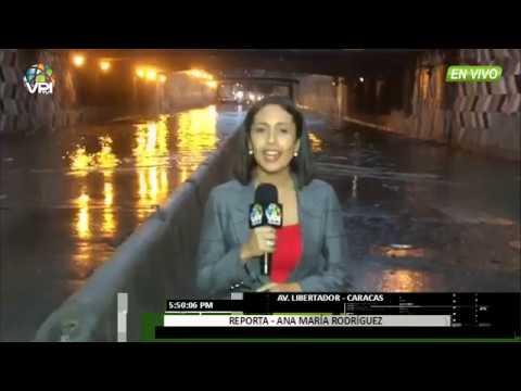 Venezuela - Av. Libertador inundada tras fuertes lluvias en Caracas - VPItv