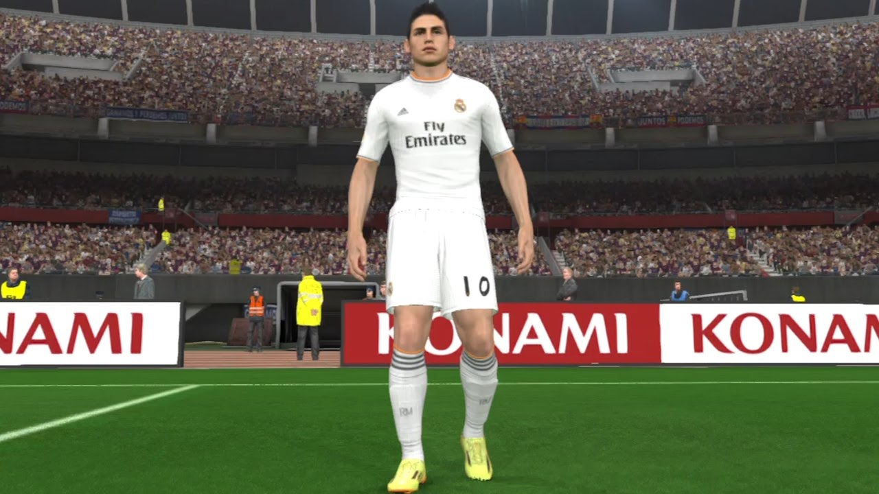 e04620eda83 PES 2014 James Rodriguez in Real Madrid CF Kit ○ Welcome ○ 2015 ...