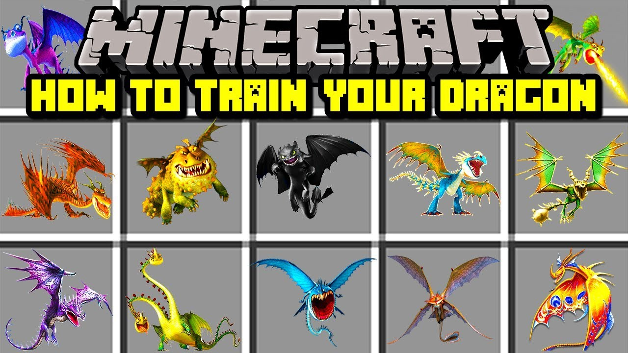 Minecraft How To Train Your Dragon Mod Tame Your Very Own Dragon
