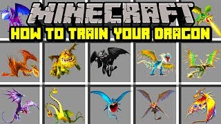 Minecraft HOW TO TRAIN YOUR DRAGON MOD! | TAME YOUR VERY OWN DRAGON! | Modded Mini-Game thumbnail