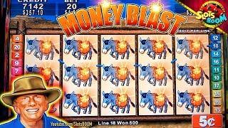 BIG WINS & PLAY !!! MONEY BLAST KONAMI SLOTS 1c & 5c in Casino
