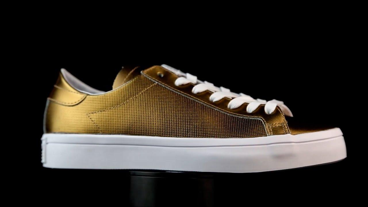 9bdd421194d6 Adidas Originals Court Vantage dorado. - YouTube