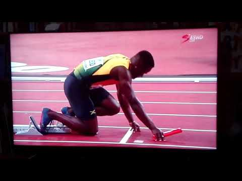 Usain Bolt's last run 2017 Olympics final relay(FAIL)