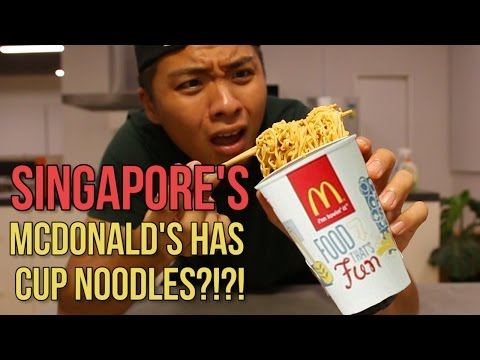 McDonald's Instant Noodles Taste Test!
