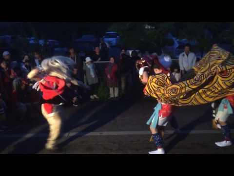 富山県新湊の獅子舞(獅子殺しの全行程)