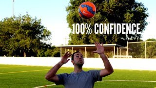 How To Control The Soccer Ball Out Of The Air | First Touch Drill