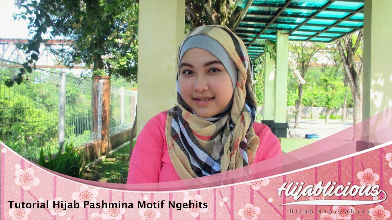 Hijablicious Tutorial Hijab Pashmina Motif Ngehits YouTube